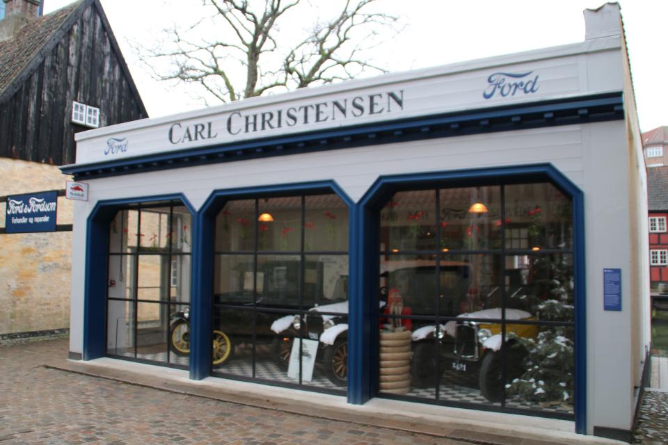 Магазин автомобилей в 1927 году,Старый Город, г. Орхус, Дания