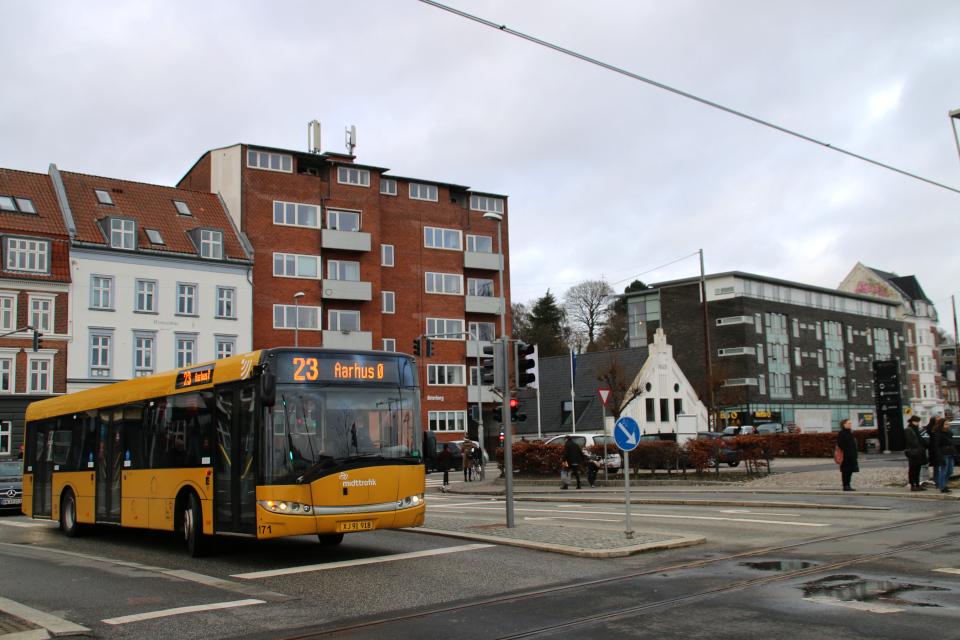 Орхус Доклендс - 22 января 2021, Дания. Aarhus Ø, bus