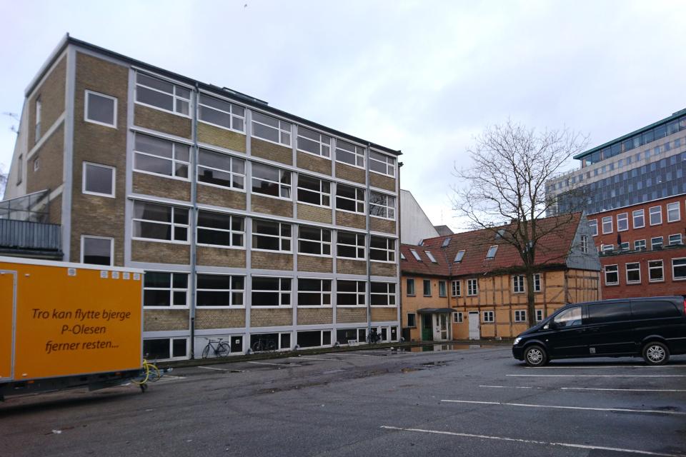Во дворе зданий, которых не станет. Фото 22 янв. 2021, г. Орхус, Дания