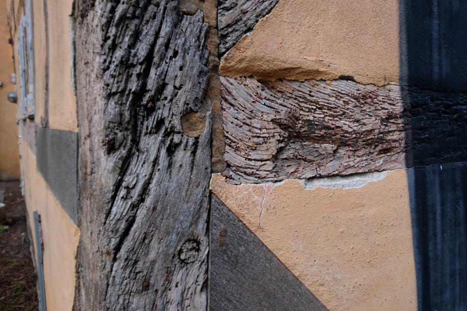 Деревянная основа фахверкового здания Mindegade 12, г. Орхус, Дания