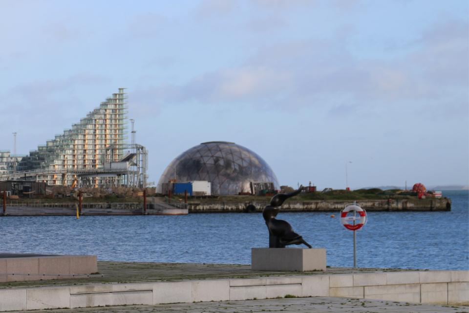 Купол Видения в порту Орхуса. Фото 22 янв. 2021, Дания