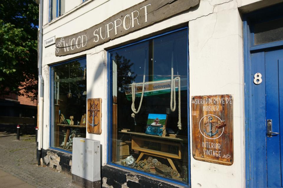 Магазинчик антиквариата Europaplads и Ridderstræde. Фото 2 авг. 2019