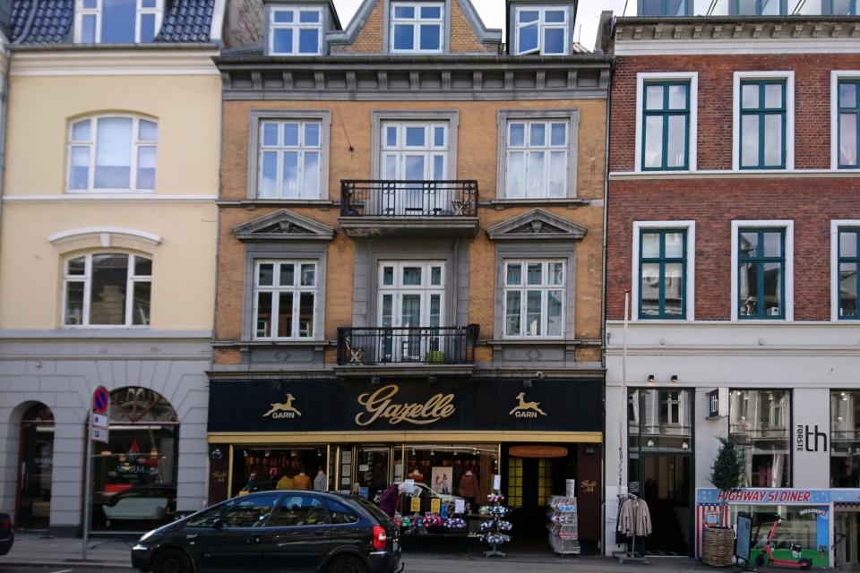 "Магазин пряжи ""Gazelle Garn"" в центре г. Орхус, Дания. Фото 18 мар. 2021"