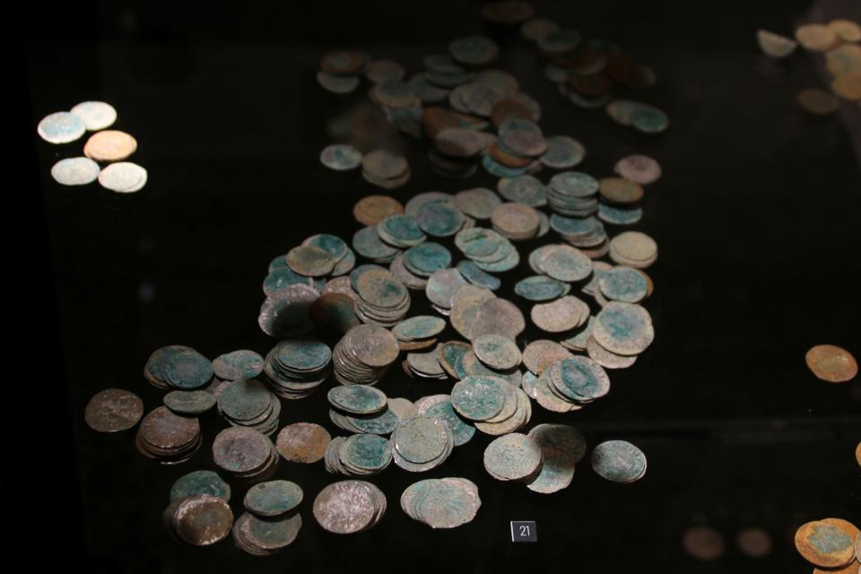 Клад монет Урхой / Urhøj, 14 век, музей Вайле, Дания. Фото 12 нояб. 2020