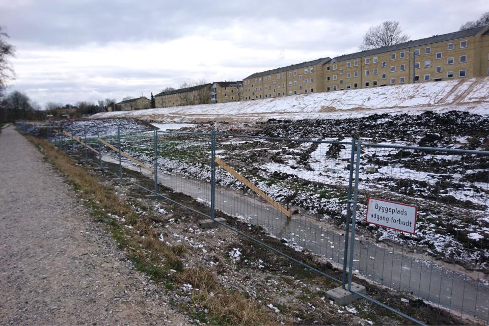 Кьёккенмединг в Риссков, место археологических раскопок, Дания 7 фев. 2021