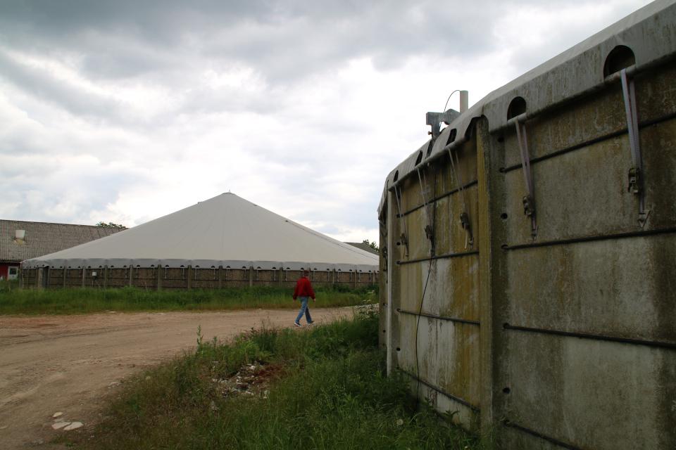 Крытые установки для очистки навозных стоков свинокомплексов