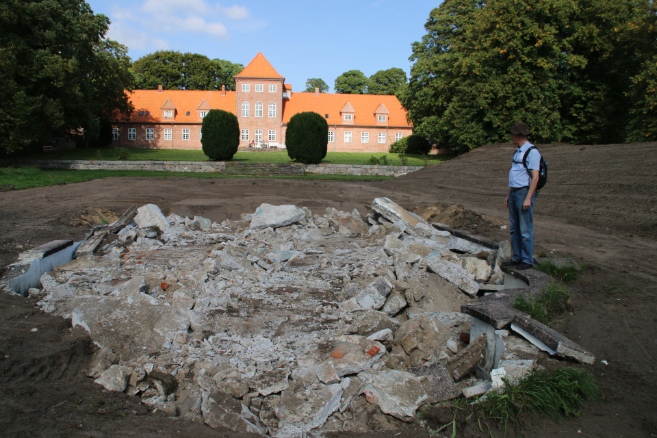 Разрушенный фонтан. Пять Хальдов, Дания / De 5 Halder. Фото 6 сент. 2018