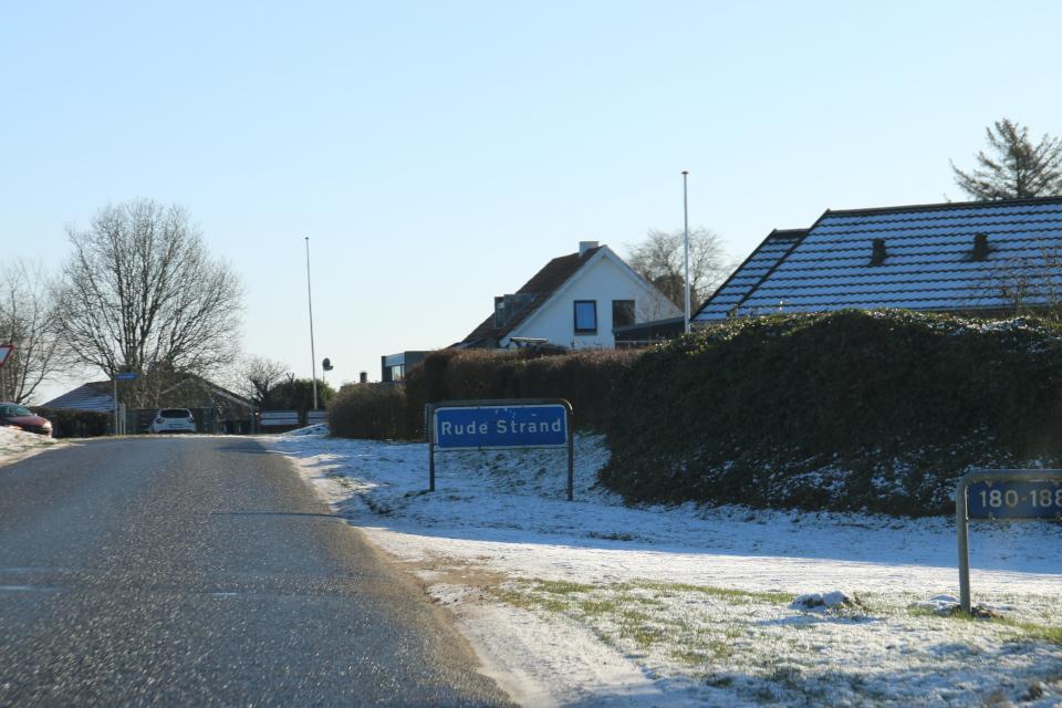 Дорога к кургану Рудэ / Rude strand, Оддер, Дания 31 янв. 2021