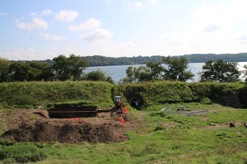 Археологические раскопки. Руины Хальд, Дания / Hald borgruin. Фото 6 сент. 2018