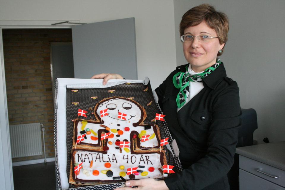 Торт человечек- kagemand от коллег по работе на сороколетний юбилей.