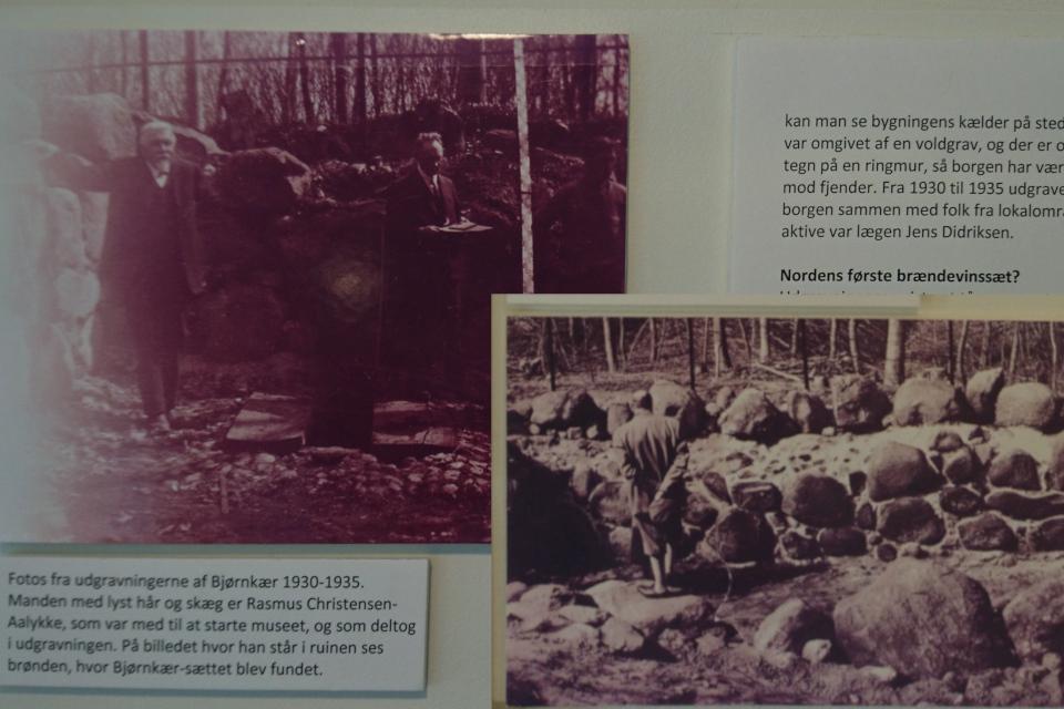Фотографии 1930 - 1935 х годов с места раскопок руин Бьорнкэр.