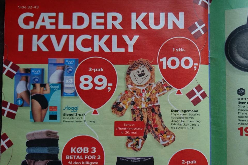 Рекламная акция kagemand кондитерской датского супермаркета Kvickly