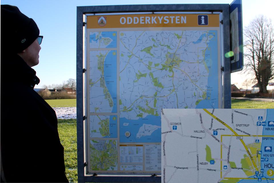 Карта Оддер, г. Дюнгбю / Dyngby. Фото 31 янв. 2021