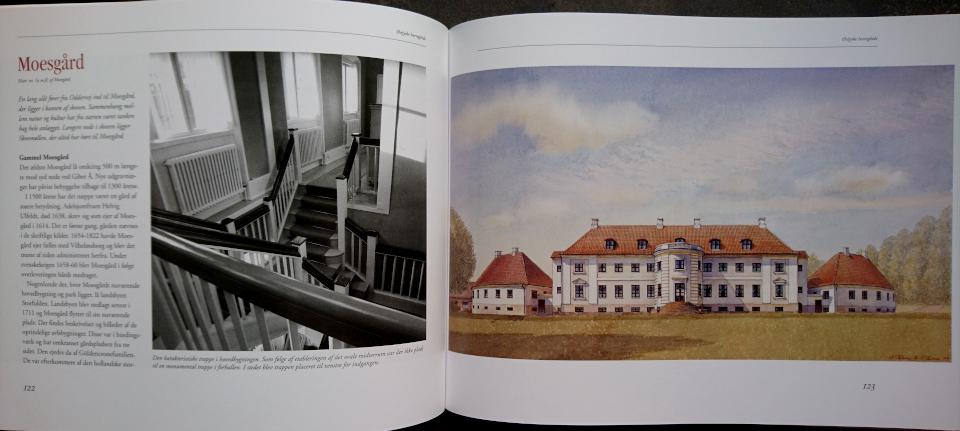 """Акварельная работа Александра Тиме, 1999 г. из книги Østjyske Herregårde"""" (""""Восточно-ютландские поместья"""")."""