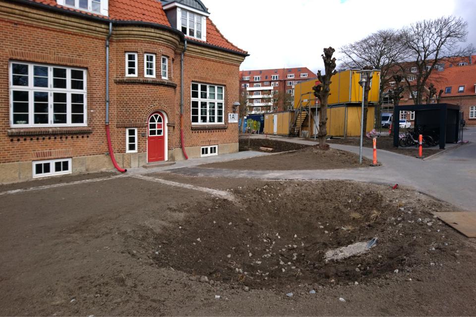 Дождевые прудым Марселисборг центр, г. Орхус, Дания. 7 мар. 2021