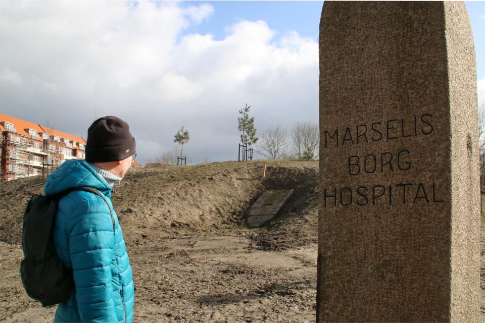 Бомбоубежище, парк Марселисборг Спарк. г. Орхус, Дания. 7 мар. 2021