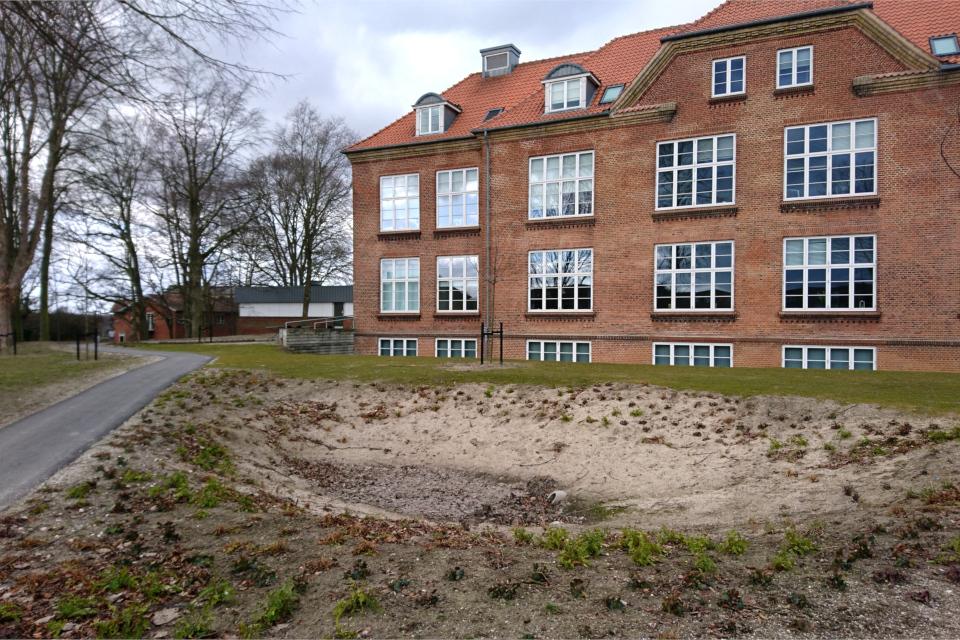 Дождевое озеро парка Спарк, г. Орхус, Дания. 7 мар. 2021