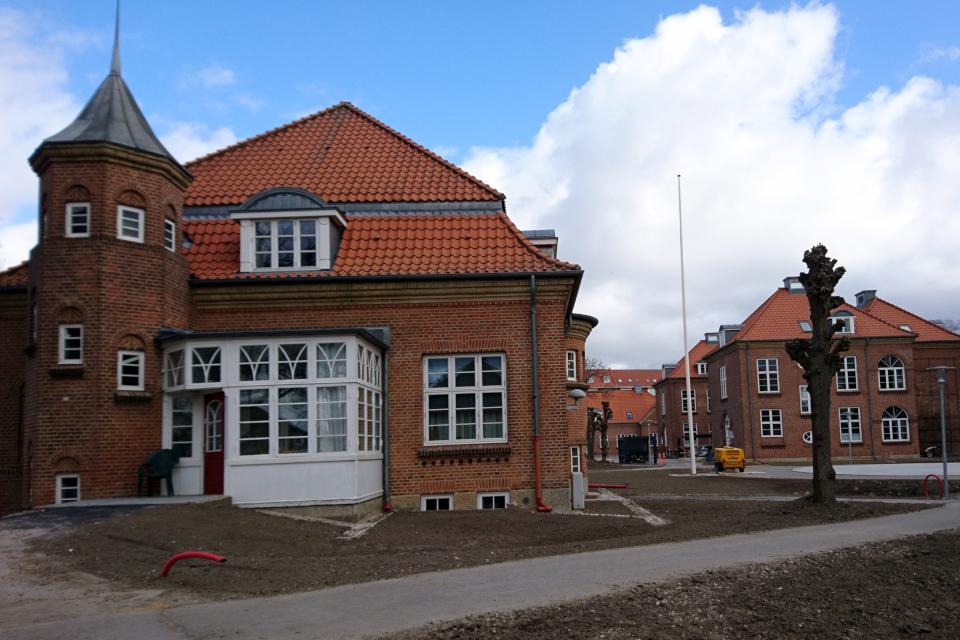 Ливневая канализация, парк Марселисборг Спарк. г. Орхус, Дания. 7 мар. 2021