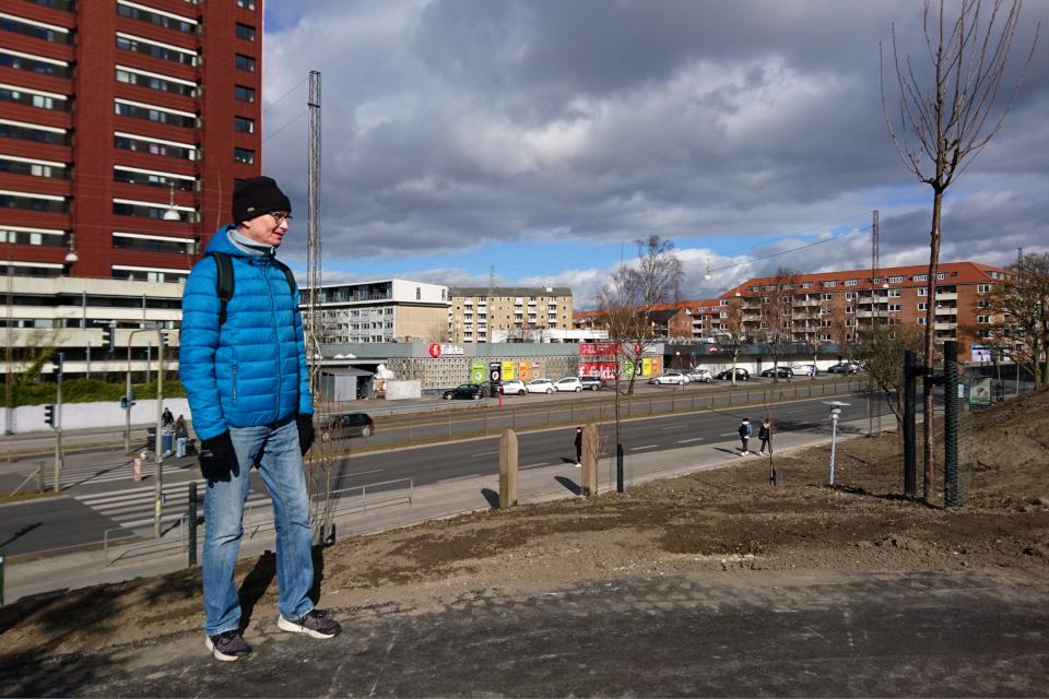 Закладка дождевого парка Спарк, г. Орхус, Дания. 7 мар. 2021