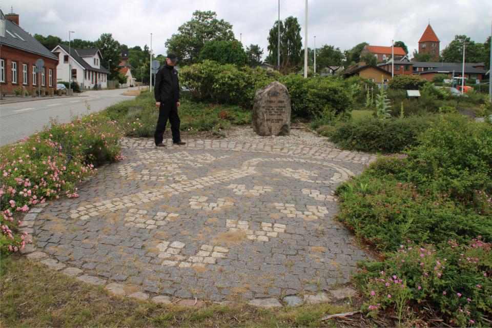 Памятные камни освобождения Дании 1945, Gl Rye