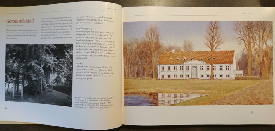 Главное здание поместья Герсдорффслунд - акварельная работа Александра Тиме