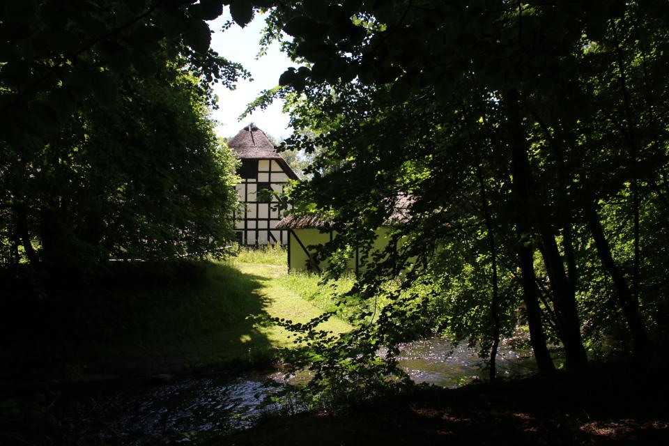 Водяная мельница поместья. Фото 25 июн. 2020, Хойбьерг, Дания