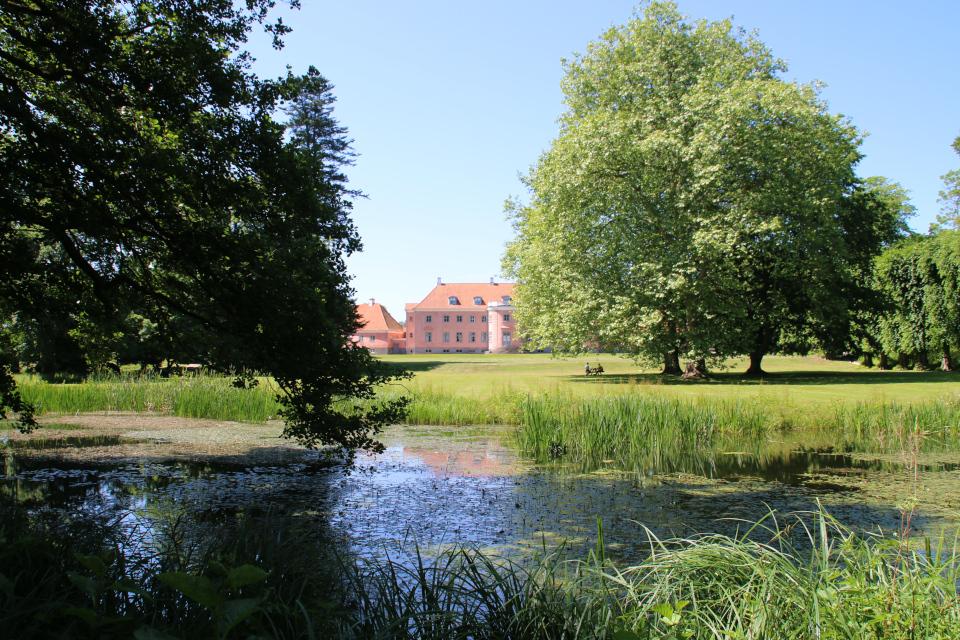 Пруд в парке. поместье Мосгорд, Хойбьерг, Дания