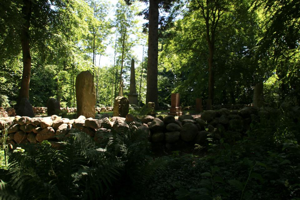 Место захоронений семьи Даль в парке Мосгорд