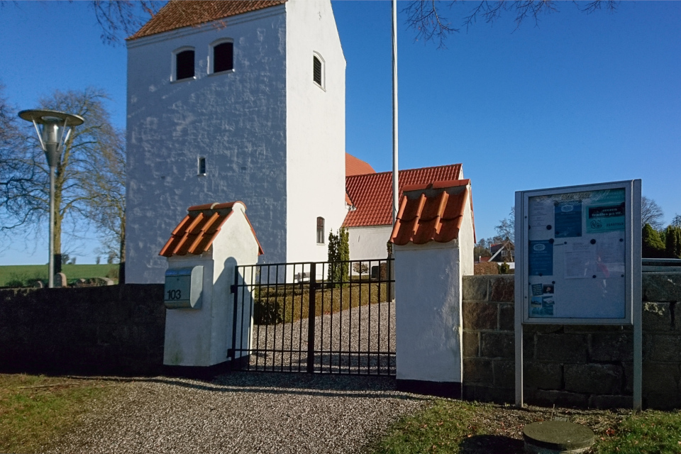 Церковь Нёлев (Nølev Kirke), Оддер, Дания. 31 янв. 2021