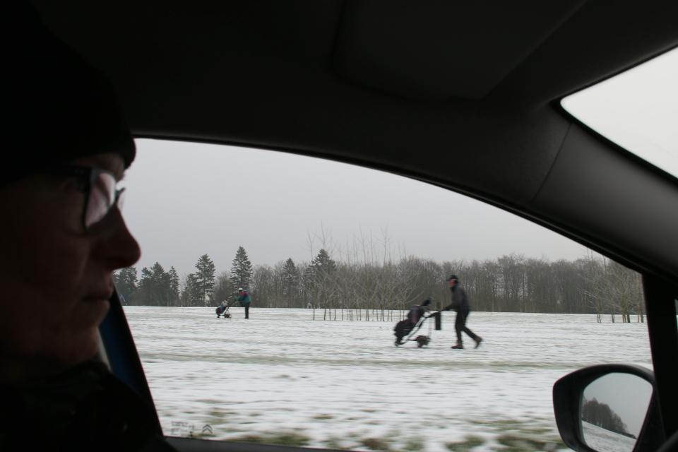 Гольфовые поля вдоль дороги Aakærvej, Дания
