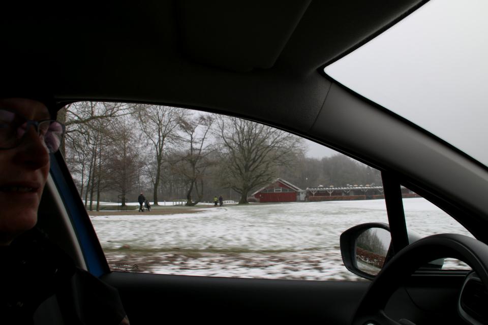 Гольфовый клуб Окэр. Вид с дороги Aakærvej. Фото 1 фев. 2021