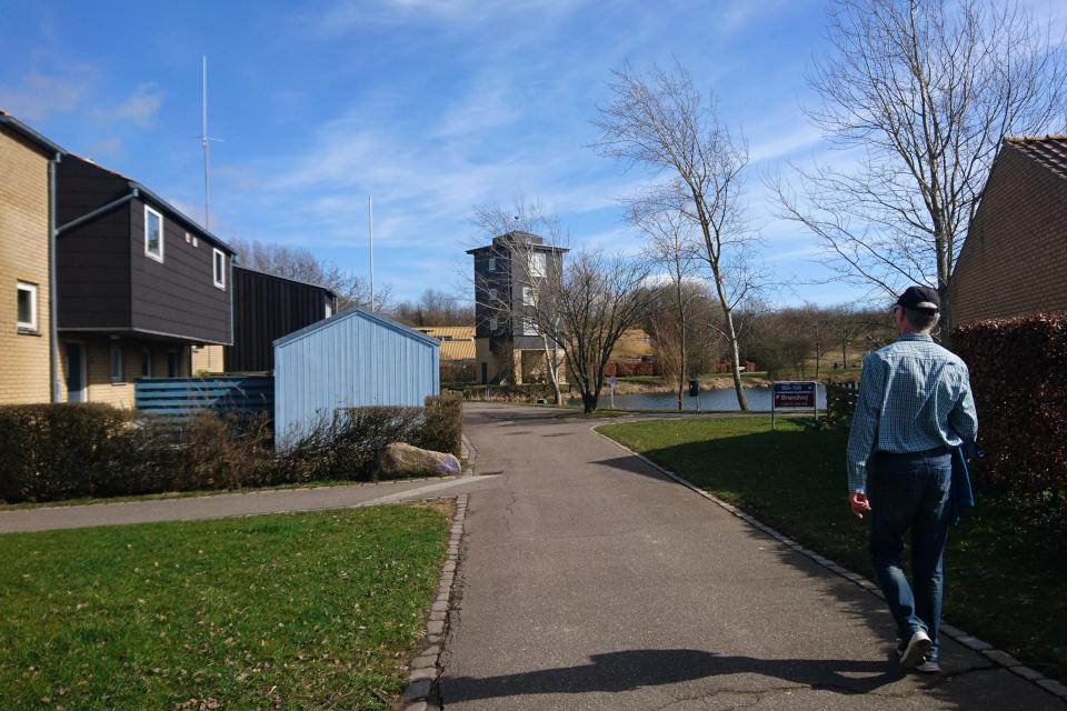 Четырехэтажная башня-дом в жилищном комплексе Håndværkerparken, г. Хойбьерг