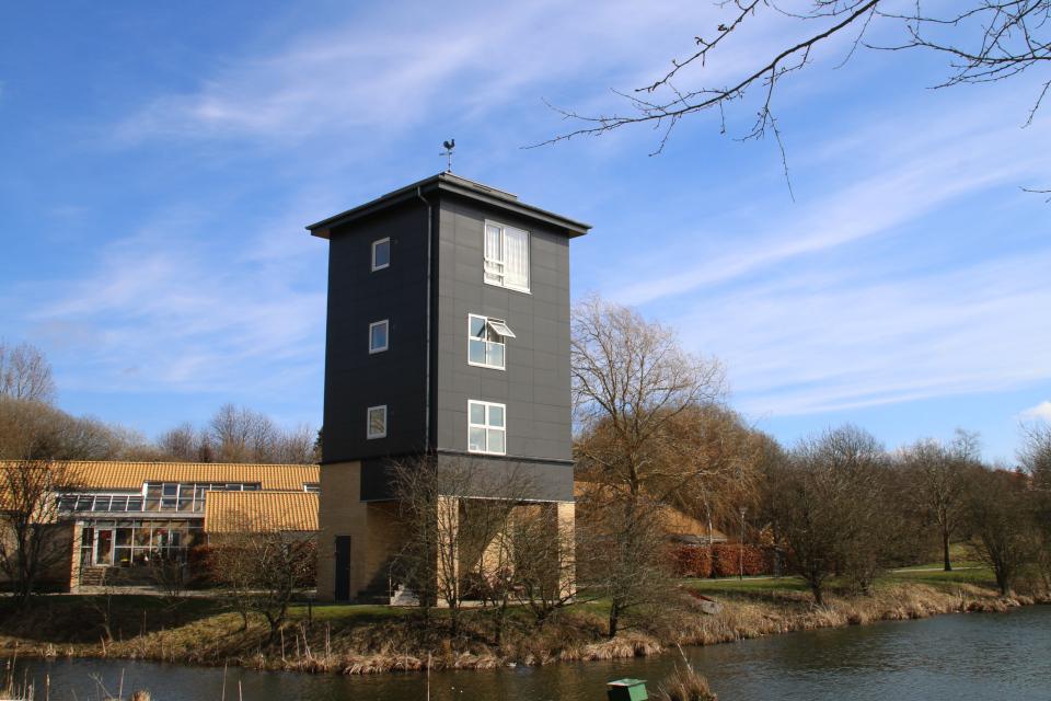 Башня-дом с флюгером, г. Хойбьерг, Дания. Фото 30 мар. 2021
