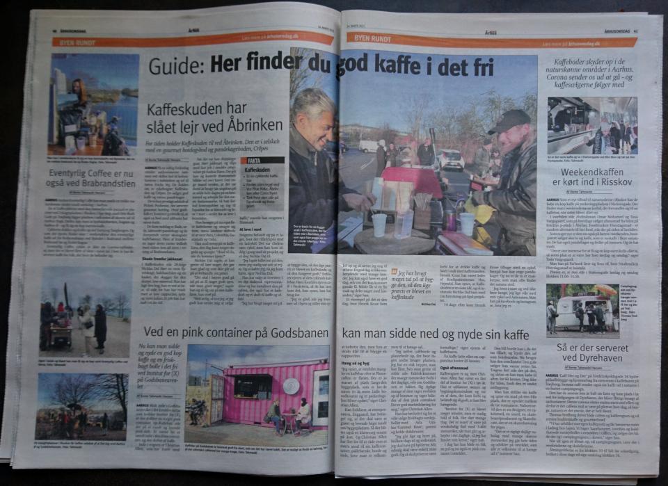 Статья в местной газете Aarhus Onsdag