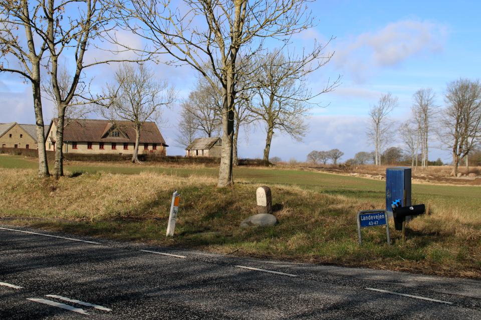 Дорожный камень, Landevejen. 14 mar. 2021