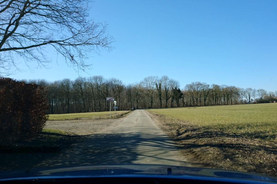 По дороге в лес Fensten Sønderskov. Фото 9 мар. 2021, Søby / Odder, Дания