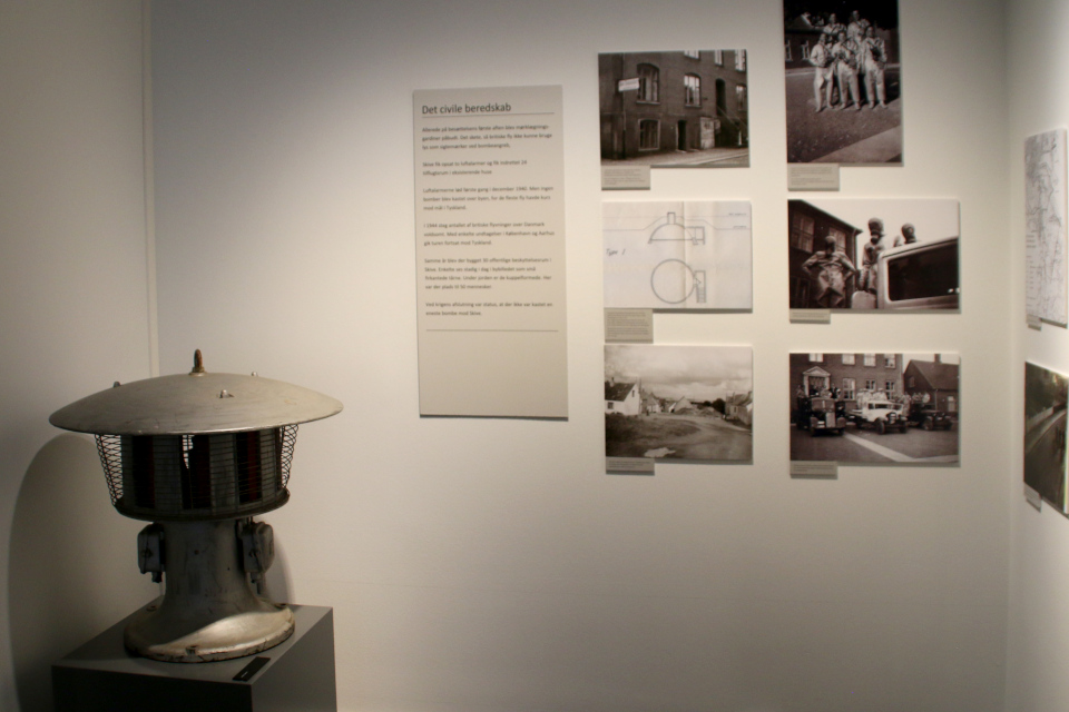 Сирена. Выставка оккупации Дании в музее Скиве. Фото 13 авг. 2020