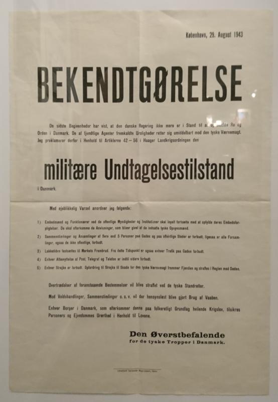 29 aug. 1943. Выставка оккупации Дании в музее Скиве. Фото 13 авг. 2020
