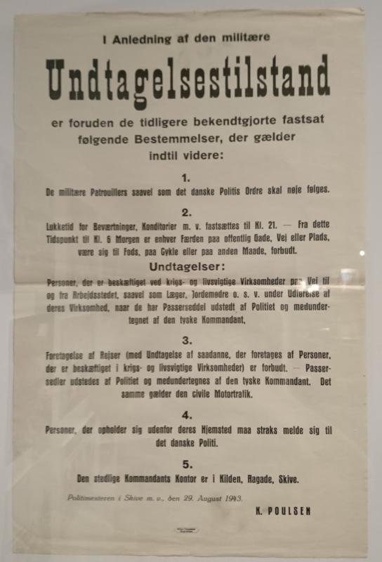 Выставка оккупации Дании в музее Скиве. Фото 13 авг. 2020