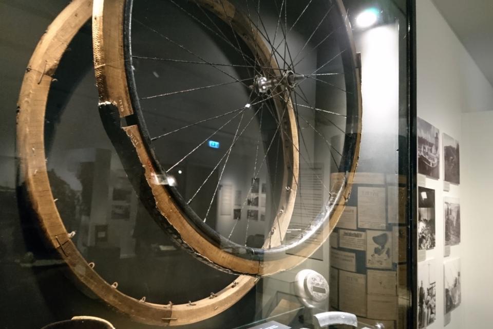Велосипед. Выставка оккупации Дании в музее Скиве. Фото 13 авг. 2020
