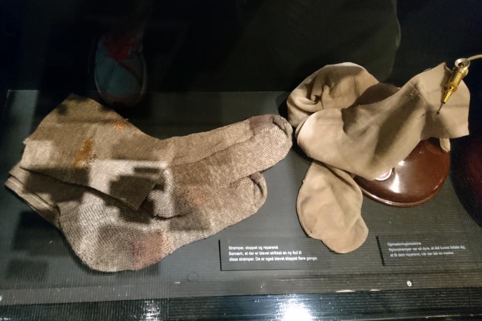 Носки. Выставка оккупации Дании в музее Скиве. Фото 13 авг. 2020