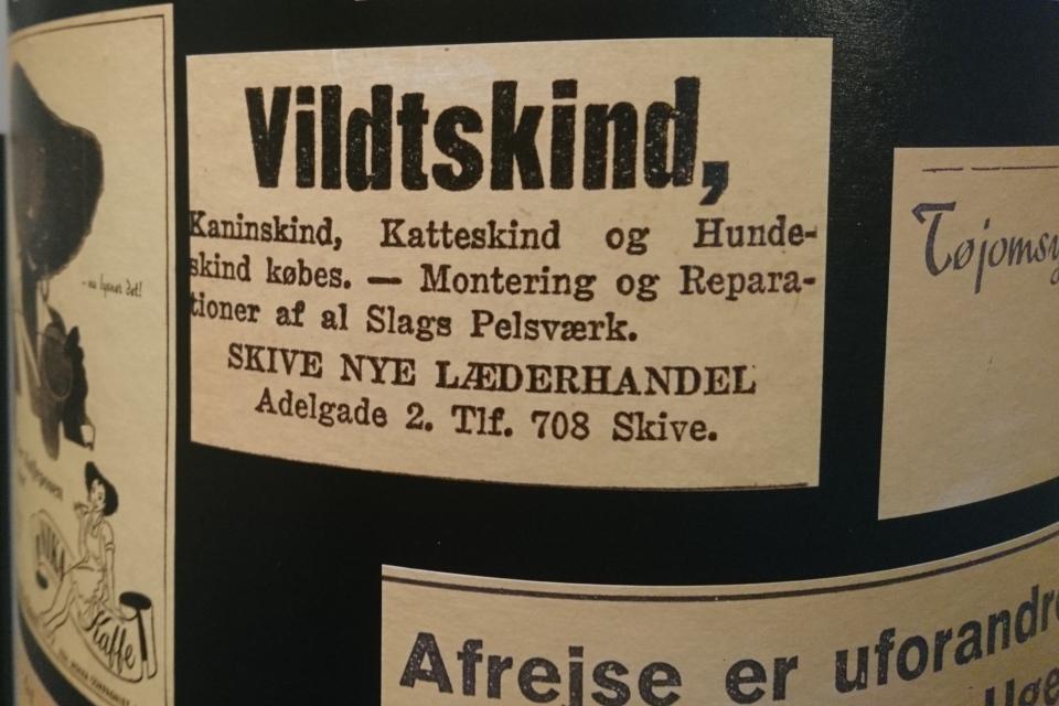 Реклама. Выставка оккупации Дании в музее Скиве. Фото 13 авг. 2020