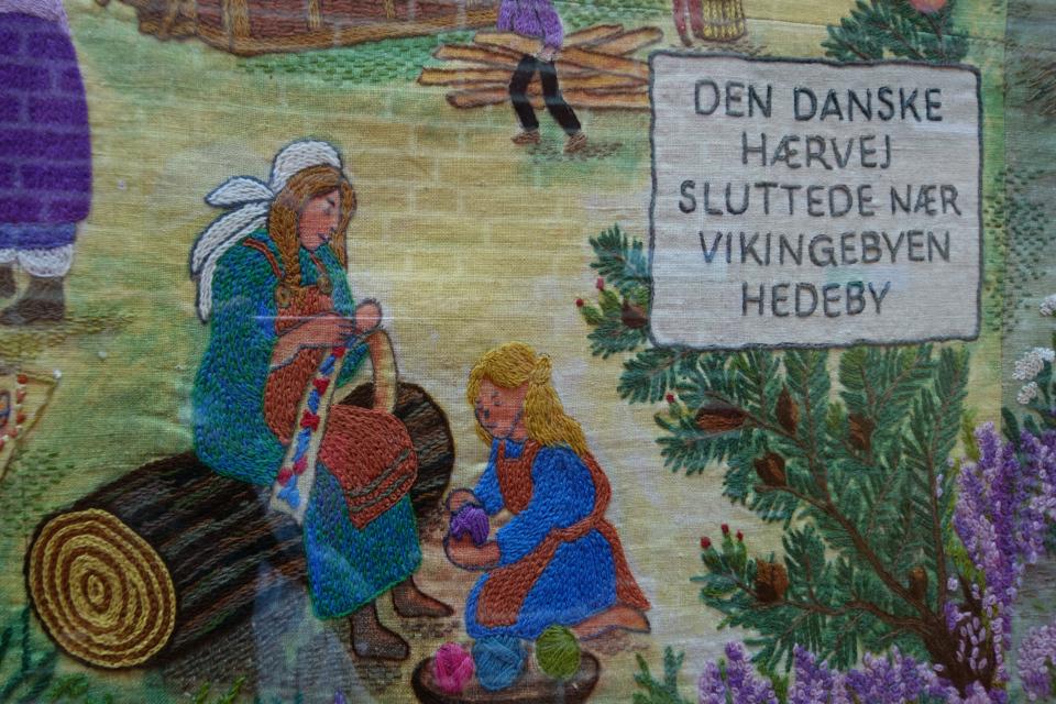 Вышитая дорожка Хэрвайн (Hærvejstæppet), Søndermarkskirken. 11 сент. 2018