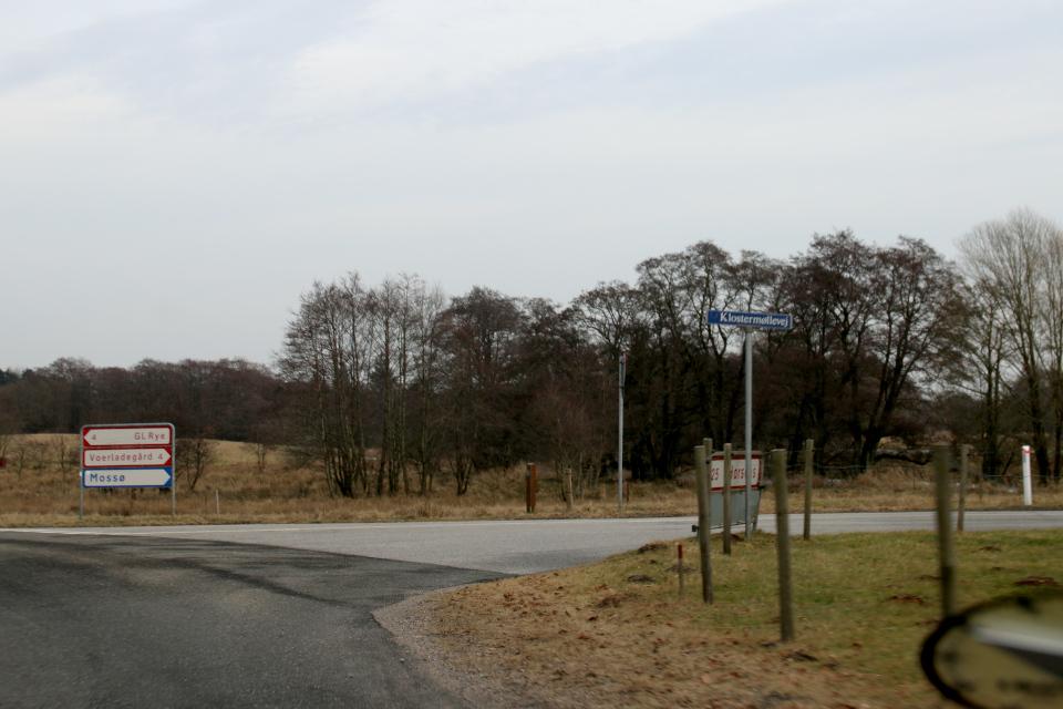 Дорога в направлении к Гамель Рю, Дания. Фото 21 фев. 2021