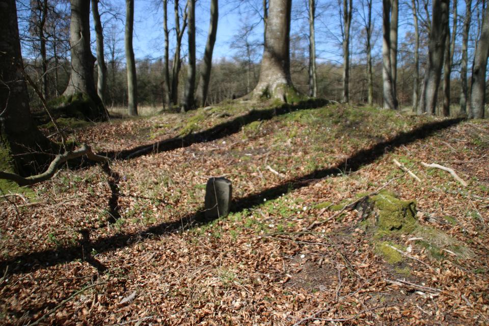 Гранитный столбик - Охраняемый объект FM, Дания. Фото 25 мар. 2021