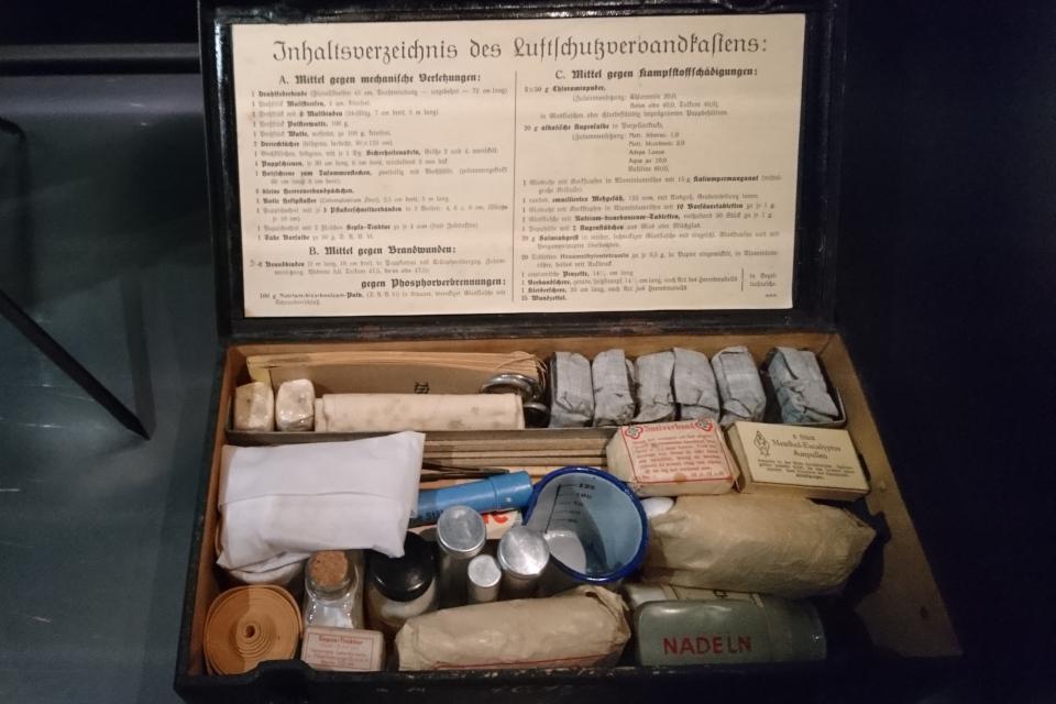 Набор первой помощи. Музей оккупации Дании в Орхусе. 18 нояб. 2020