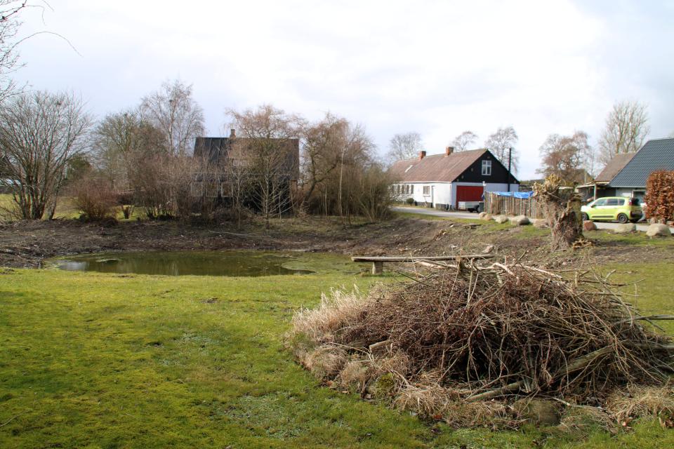 St hans bål. Ольструп / Ålstrup, Дания. 14 мар. 2021