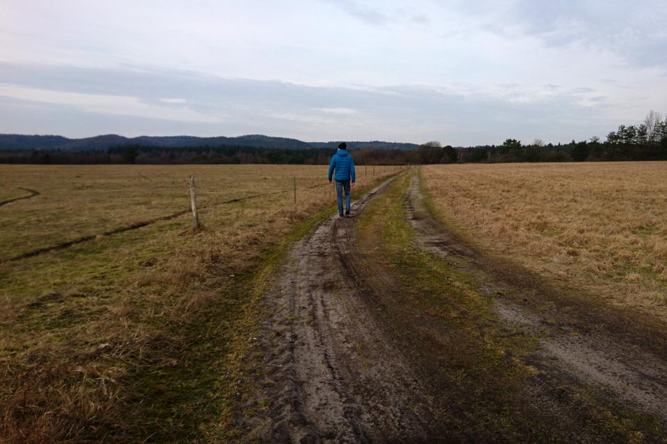 Грунтовая дорога через бывшего летного поля Рю, Дания