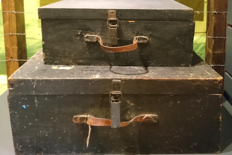 Fluchtkisten, чемодан беженцев. Gl Rye mølle museum. 5 / 07 20