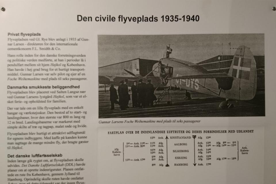 Самолет на летном поле Рю до начала второй мировой войны